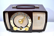 Load image into Gallery viewer, Cabana Brown Mid Century 1955 Zenith Y724 AM/FM Vacuum Tube Radio Popular Model!