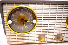 Load image into Gallery viewer, Gray and White 1954 RCA Victor  Model 4-C-671 Tube AM Clock Radio Sounds Great!