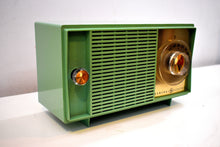 Load image into Gallery viewer, Leaf Green 1959 General Electric Model T129 AM Vintage Radio Mid Century Personality and Sounds Great!