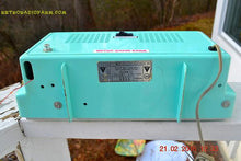 Load image into Gallery viewer, SOLD! - Apr 1, 2017 - BLUETOOTH MP3 READY - AM FM TURQUOISE Retro Mid Century Jetsons Vintage 1962 Arvin Model 2585 Tube Radio Amazing! - [product_type} - Arvin - Retro Radio Farm
