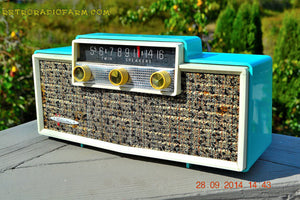 MING BLUE Retro Jetsons Vintage 1959 Silvertone 9009 AM Tube Radio Totally Restored! - [product_type} - Retro Radio Farm - Retro Radio Farm