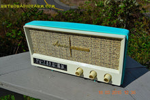 Load image into Gallery viewer, SOLD! - Dec 2, 2015 - BLUETOOTH MP3 READY - AQUAMARINE BLUE Retro Jetsons Vintage 1959 Arvin 2585 AM Tube Radio WORKS! - [product_type} - Arvin - Retro Radio Farm
