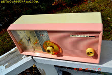 Load image into Gallery viewer, SOLD! - Apr 28, 2016 - BLUETOOTH MP3 READY - Pastel Pink Retro Jetsons 1958 Motorola Model 5C24PW Tube AM Clock Radio Totally Restored! - [product_type} - Motorola - Retro Radio Farm