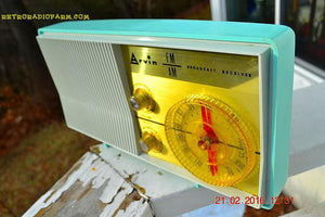 SOLD! - Apr 1, 2017 - BLUETOOTH MP3 READY - AM FM TURQUOISE Retro Mid Century Jetsons Vintage 1962 Arvin Model 2585 Tube Radio Amazing! - [product_type} - Arvin - Retro Radio Farm