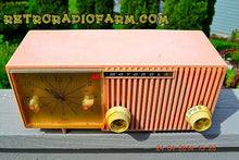 Load image into Gallery viewer, SOLD! - Sept 26, 2016 - PRETTY In Pink Retro Jetsons 1956 Motorola 57CF2 Tube AM Clock Radio Works! - [product_type} - Motorola - Retro Radio Farm