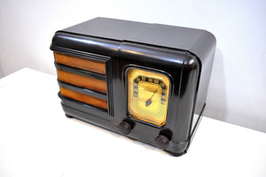 Espresso Brown Bakelite 1938 Philco Model 38-12CB Vacuum Tube AM Radio Sounds Great Awesome Condition!