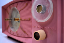 Load image into Gallery viewer, Bluetooth Ready To Go - Rose Pink 1959 Westinghouse Model H545T5A Tube AM Radio