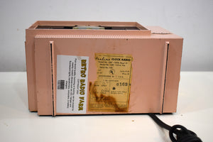 Mamie Pink 1956 Airline Model GRX-1651A AM Bakelite Vacuum Tube Radio Sounds Great!