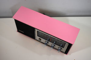Flamingo Pink 1972 Panasonic Model RE-6283 Solid State AM/FM Radio Works Great!