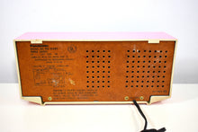 Load image into Gallery viewer, Flamingo Pink 1972 Panasonic Model RE-6283 Solid State AM/FM Radio Works Great!