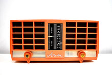 Load image into Gallery viewer, Pumpkin Spice 1956-1957 Arvin Model 3561 Vacuum Tube Radio Dual Speaker Sounds Great!