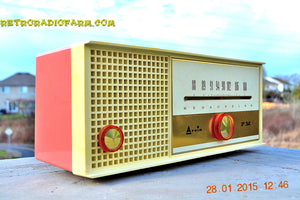 SOLD! - Feb 17, 2015 - CARNATION PINK Retro Jetsons early 60s Arvin Model 30R12 Tube FM RADIO Works! - [product_type} - Arvin - Retro Radio Farm