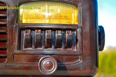 SOLD! - Feb 19, 2016 - ART DECO 1940 AIRLINE Model 04BR-513 AM Brown Swirly Marbled Bakelite Tube Radio Totally Restored! , Vintage Radio - Airline, Retro Radio Farm  - 9