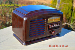 SOLD! - Feb 19, 2016 - ART DECO 1940 AIRLINE Model 04BR-513 AM Brown Swirly Marbled Bakelite Tube Radio Totally Restored! , Vintage Radio - Airline, Retro Radio Farm  - 4