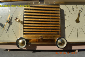 SOLD! - Mar 15, 2016 - BEIGE Pink Mid Century Retro Zenith Model G516L AM Clock Radio Totally Restored! , Vintage Radio - Zenith, Retro Radio Farm  - 6