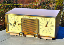 Load image into Gallery viewer, SOLD! - Mar 15, 2016 - BEIGE Pink Mid Century Retro Zenith Model G516L AM Clock Radio Totally Restored! , Vintage Radio - Zenith, Retro Radio Farm  - 3
