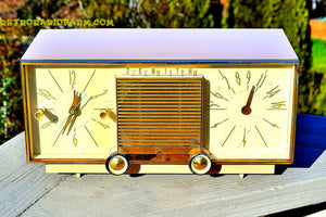 SOLD! - Mar 15, 2016 - BEIGE Pink Mid Century Retro Zenith Model G516L AM Clock Radio Totally Restored! , Vintage Radio - Zenith, Retro Radio Farm  - 4