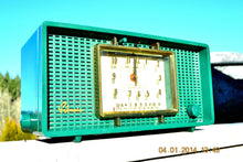 Load image into Gallery viewer, SOLD! - March 8, 2014 - SHERWOOD GREEN Atomic Age Vintage 1955 Sylvania 593 Tube AM Clock Radio WORKS! - [product_type} - Admiral - Retro Radio Farm