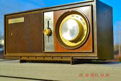 SOLD! - March 20, 2014 - RETRO Modern Fugly 1960's Silvertone Model 6002 Brown Woodgrain Radio Works! , Vintage Radio - Silvertone, Retro Radio Farm  - 3