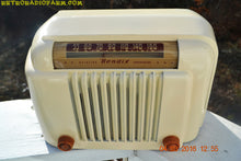 Load image into Gallery viewer, SOLD! - Apr 15, 2016 - CLASSIC 1947 Ivory Bendix Aviation Model 526A Bakelite AM Tube AM Radio Totally Restored! , Vintage Radio - Bendix Aviation, Retro Radio Farm  - 8