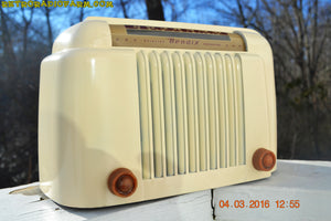 SOLD! - Apr 15, 2016 - CLASSIC 1947 Ivory Bendix Aviation Model 526A Bakelite AM Tube AM Radio Totally Restored! , Vintage Radio - Bendix Aviation, Retro Radio Farm  - 12