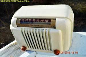 SOLD! - Apr 15, 2016 - CLASSIC 1947 Ivory Bendix Aviation Model 526A Bakelite AM Tube AM Radio Totally Restored! , Vintage Radio - Bendix Aviation, Retro Radio Farm  - 11