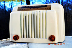 SOLD! - Apr 15, 2016 - CLASSIC 1947 Ivory Bendix Aviation Model 526A Bakelite AM Tube AM Radio Totally Restored! , Vintage Radio - Bendix Aviation, Retro Radio Farm  - 4