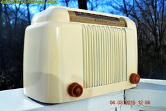 SOLD! - Apr 15, 2016 - CLASSIC 1947 Ivory Bendix Aviation Model 526A Bakelite AM Tube AM Radio Totally Restored! , Vintage Radio - Bendix Aviation, Retro Radio Farm  - 2
