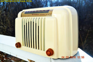 SOLD! - Apr 15, 2016 - CLASSIC 1947 Ivory Bendix Aviation Model 526A Bakelite AM Tube AM Radio Totally Restored! , Vintage Radio - Bendix Aviation, Retro Radio Farm  - 3
