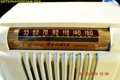 SOLD! - Apr 15, 2016 - CLASSIC 1947 Ivory Bendix Aviation Model 526A Bakelite AM Tube AM Radio Totally Restored! , Vintage Radio - Bendix Aviation, Retro Radio Farm  - 6