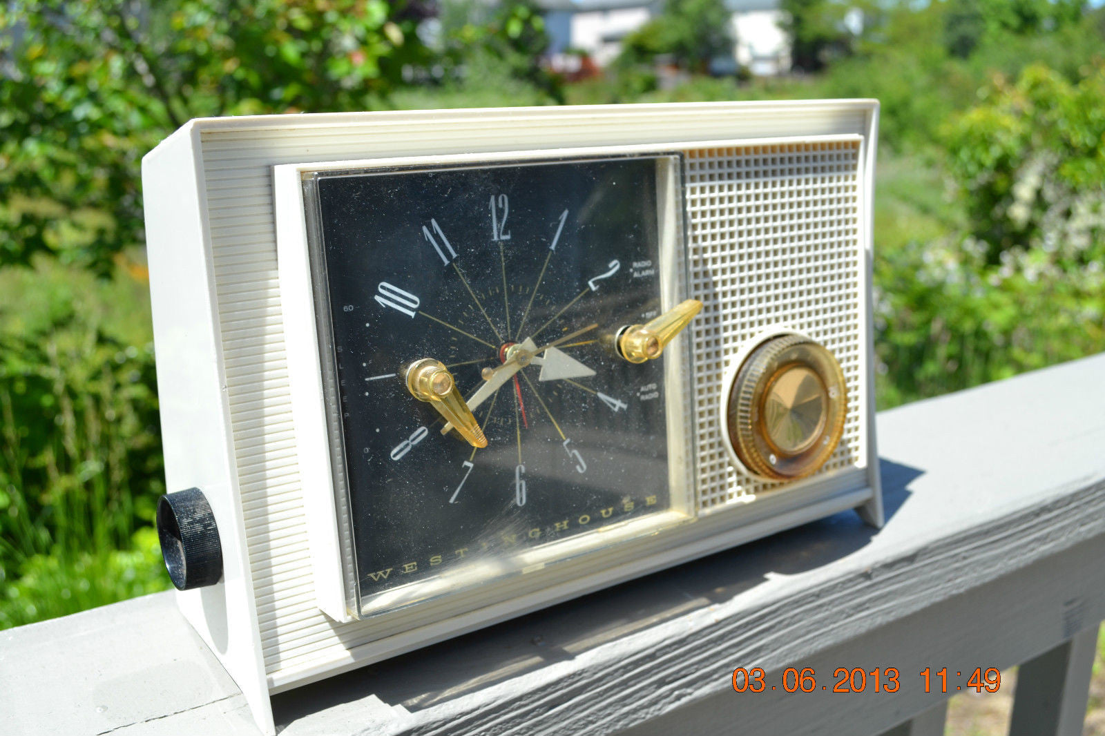 SOLD! - March 16, 2014 - RETRO Vintage Eames AM 1950's Westinghouse AM Tube Clock Radio H753LW Works! , Vintage Radio - Admiral, Retro Radio Farm  - 1