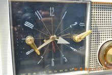 Load image into Gallery viewer, SOLD! - March 16, 2014 - RETRO Vintage Eames AM 1950's Westinghouse AM Tube Clock Radio H753LW Works! , Vintage Radio - Admiral, Retro Radio Farm  - 5