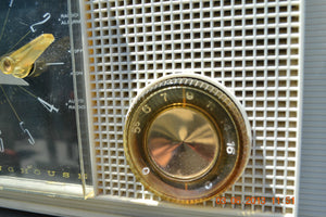 SOLD! - March 16, 2014 - RETRO Vintage Eames AM 1950's Westinghouse AM Tube Clock Radio H753LW Works! , Vintage Radio - Admiral, Retro Radio Farm  - 4