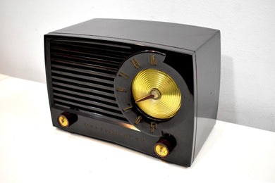 Classic Brown Bakelite Mid Century 1953 Westinghouse Model H382T5 AM Vacuum Tube Radio Sounds Like A Champ!