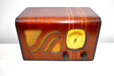 Golden Age Vintage Wood 1939 Philco Model 39-6C AM Radio Sounds Great Hardwood Cabinet Sounds Wonderful!