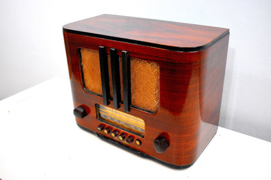 Beautiful Pre-War Handcrafted Wood 1938 RCA Victor Model 95T5 Vacuum Tube Radio Sweet Crooner!