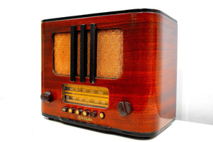 Beautiful Pre-War Rich Curved Wood 1938 RCA Victor Model 95T5 Vacuum Tube Radio Sweet Crooner!
