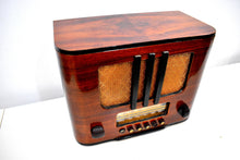 Load image into Gallery viewer, Beautiful Pre-War Rich Curved Wood 1938 RCA Victor Model 95T5 Vacuum Tube Radio Sweet Crooner!