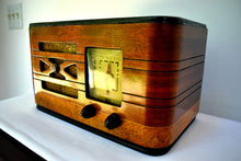 Load image into Gallery viewer, Pre-War Vintage Wood 1939 Philco Model A52CK-1 AM Radio Sounds Great Hardwood Cabinet Stunning Condition Sounds Wonderful!