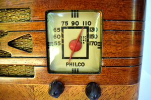 Pre-War Vintage Wood 1939 Philco Model A52CK-1 AM Radio Sounds Great Hardwood Cabinet Stunning Condition Sounds Wonderful!
