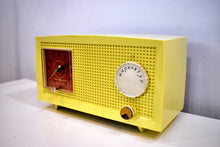 Load image into Gallery viewer, Daffodil Yellow Vintage 1957 General Electric Model C-399 Tube Radio to Brighten Up Your Day!