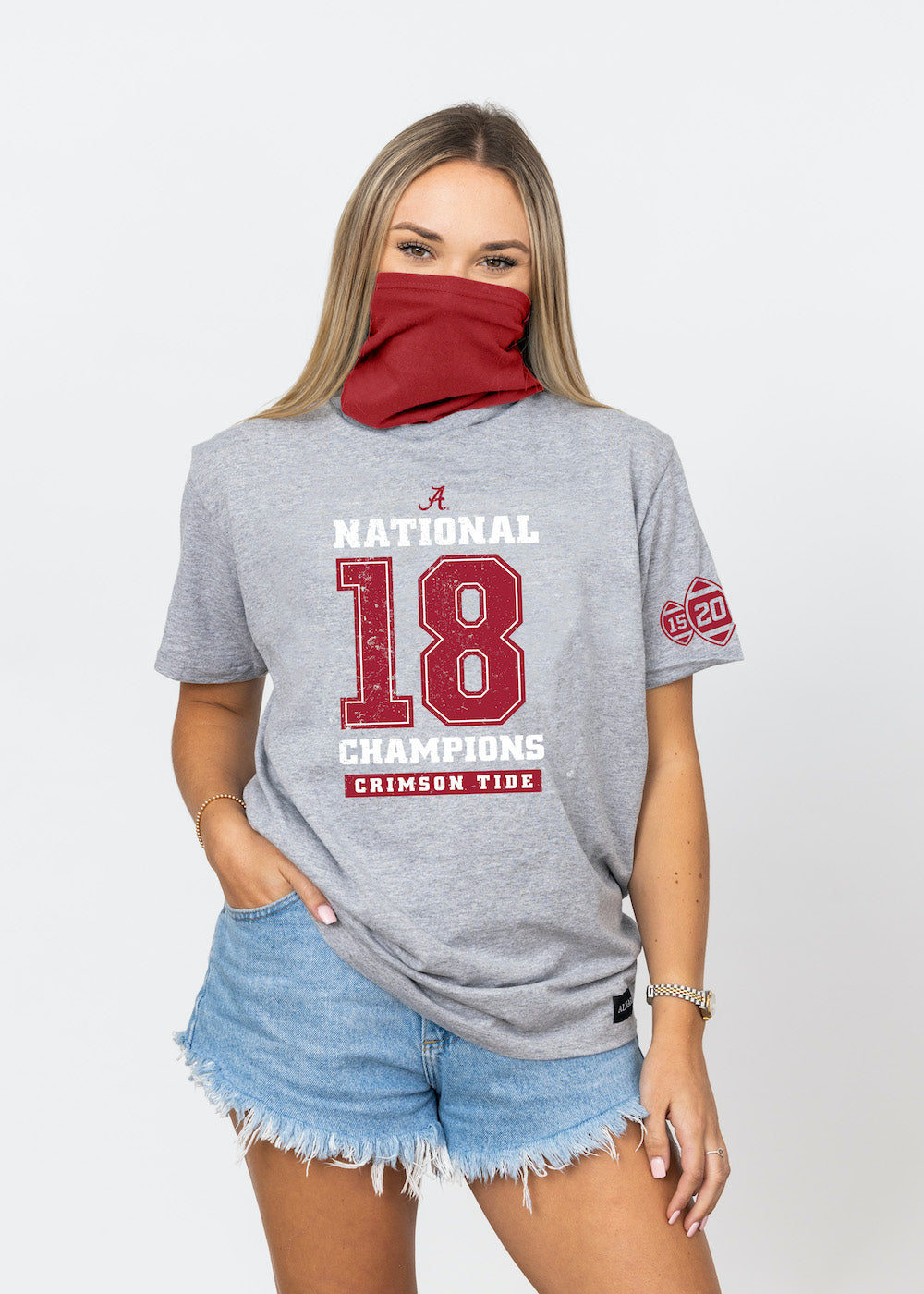 Alabama Crimson Tide College Football Playoff 2020 National Champions LEGACY 18 UNISEX TEE - ALMAR APPAREL
