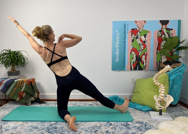 6 Minutes Spine Lengthening Scolio Pilates with Karena Thek