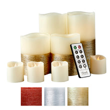 Furora LIGHTING-Trim Style Real Wax Flameless Set of 8