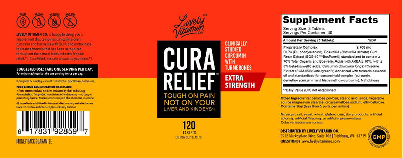 CuraHealth Pain Relief Support Supplement | Lively Vitamin