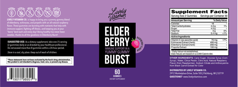 Elderberry Burst – Lively Vitamin Co.