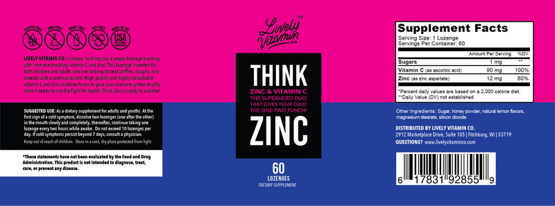 think zinc supplement immune health supplement zinc