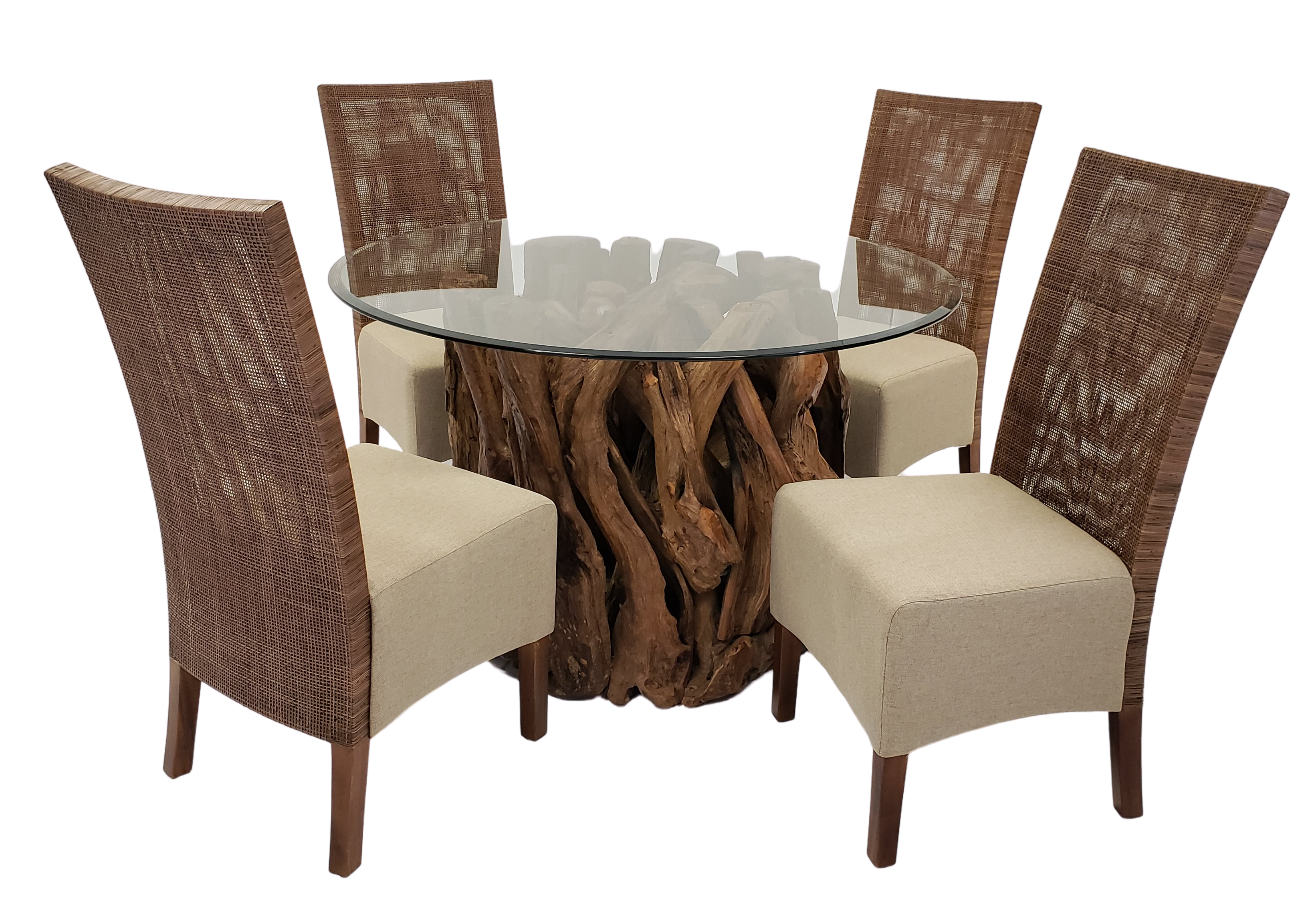 Teak Root Base with Preston Chairs