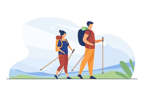 hiking walking nature forest workout for detox