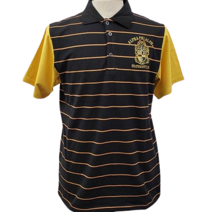 Alpha Striped Polo